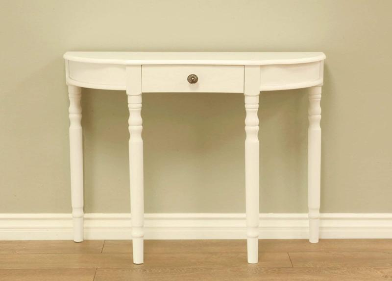 entry way console table top open bottom