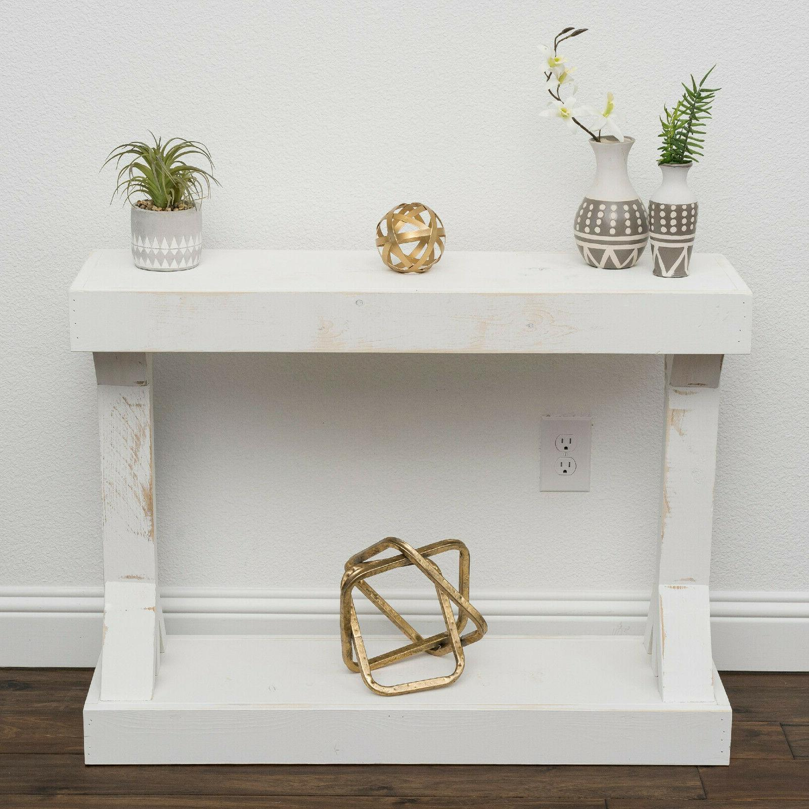 Entryway Table Console End Display Storage Farmhouse
