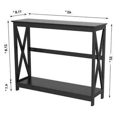 Entryway Console Shelves Storage Room