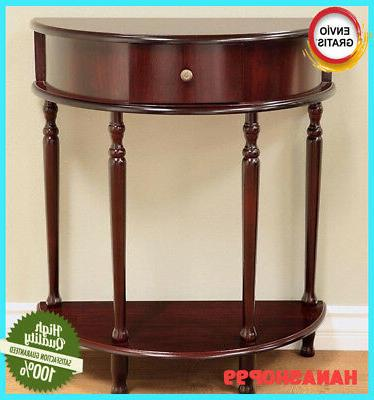 entryway half moon console tables accent living