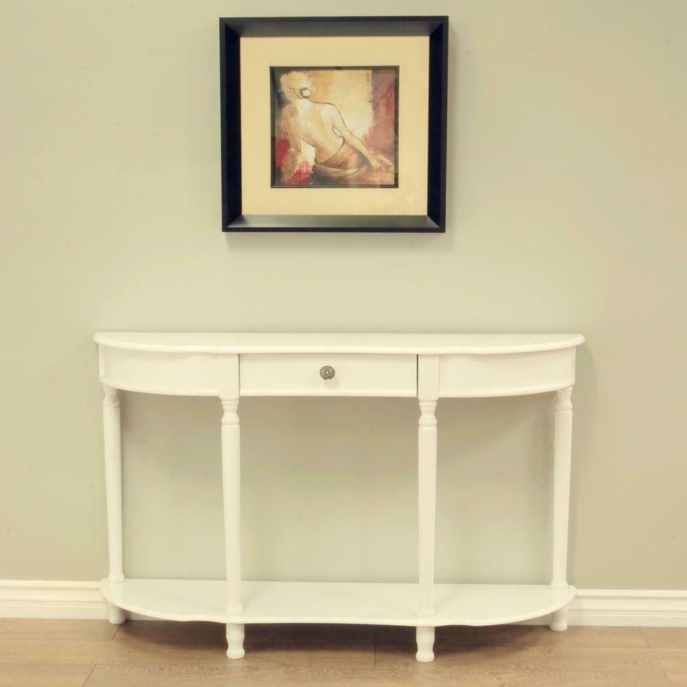 Console Table Drawer Entryway Room Display Storage