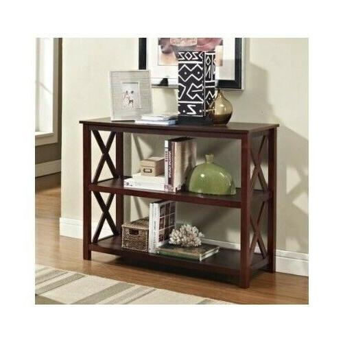 espresso console table furniture living room accent