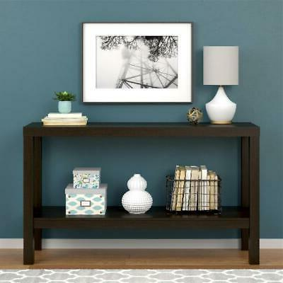 espresso parsons console table durable home living