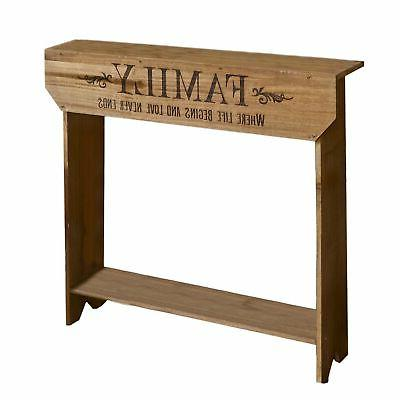 farmhouse sentiment console table family rustic country