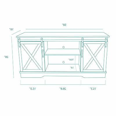 Espresso FarmhouseStyle Stand With Console Table Storage