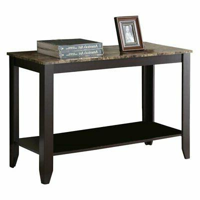 faux marble console table cappuccino