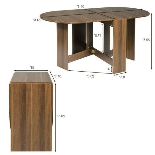 Folding Drop Dining Table Console Table Extending Multifunctional