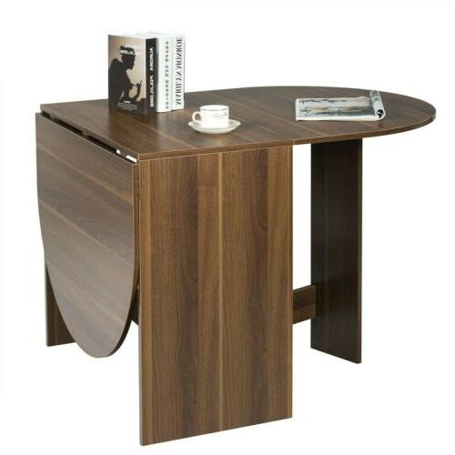 Folding Leaf Table Console Table Extending Multifunctional Oval
