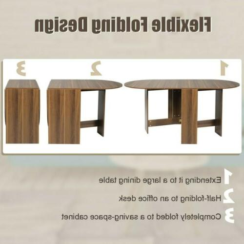Folding Drop Table Table Extending Multifunctional Oval