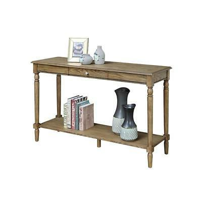 french country console table with drawer