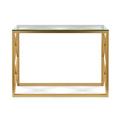 Geometric Table in Gold
