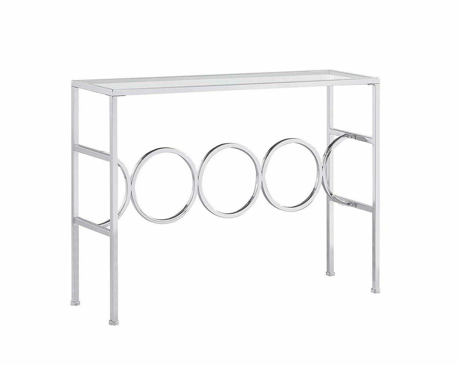 Glass Top Furniture Console Entryway