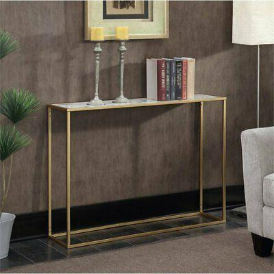 Convenience Concepts Gold Coast Faux Marble Top Console Tabl
