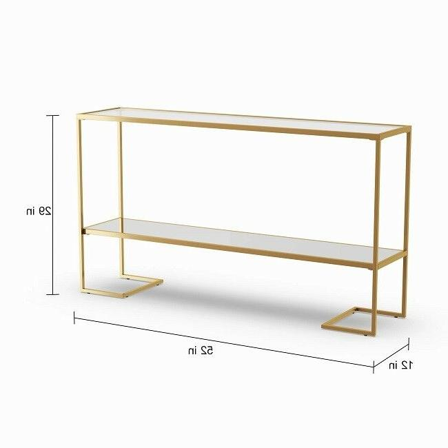 Gold Table Entryway Glass Accent Glam