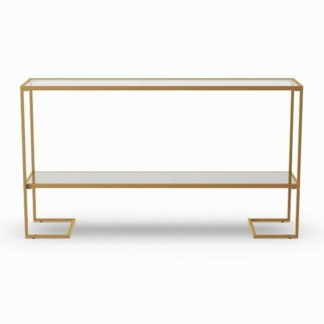 Gold Table Accent Living Glam