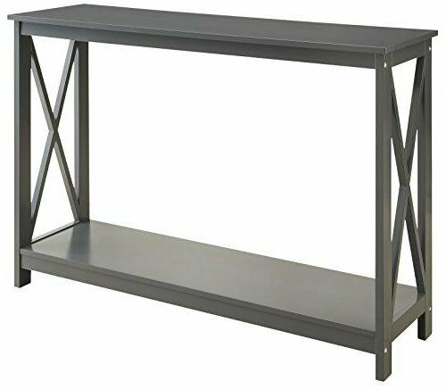 grey finish 3 tier occasional