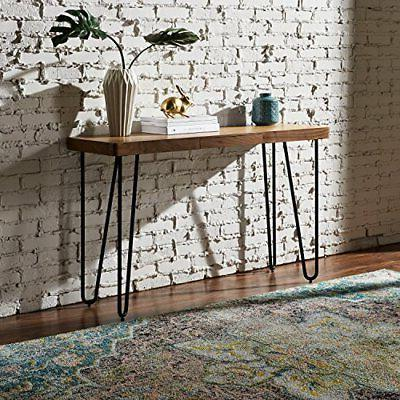 Rivet Metal Tall Table, Walnut