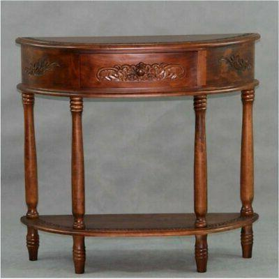Bowery Hill Console Table Walnut Stain