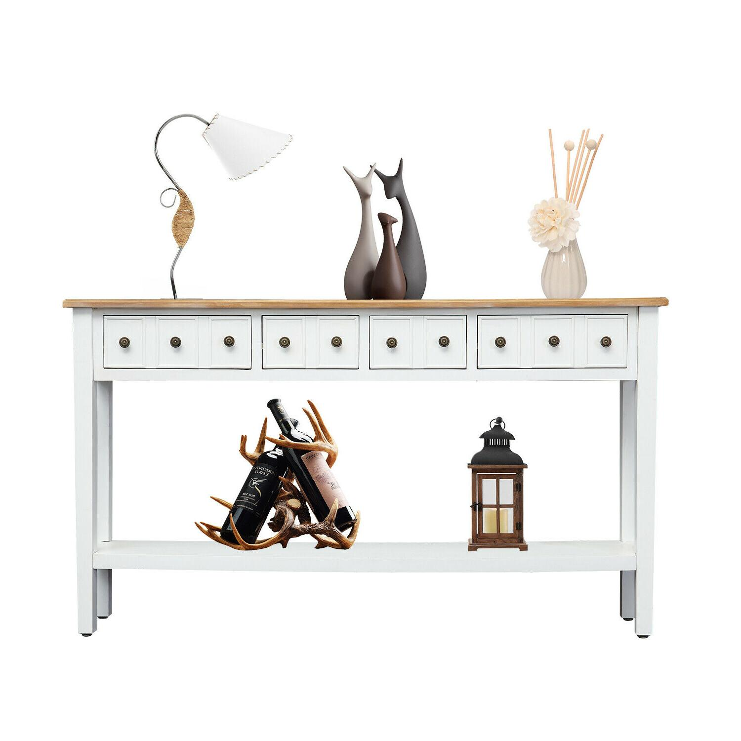 hallway console table entryway side sofa accent