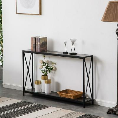 Hot Console Table Sofa Accent with Shelf Stand Entryway Hall