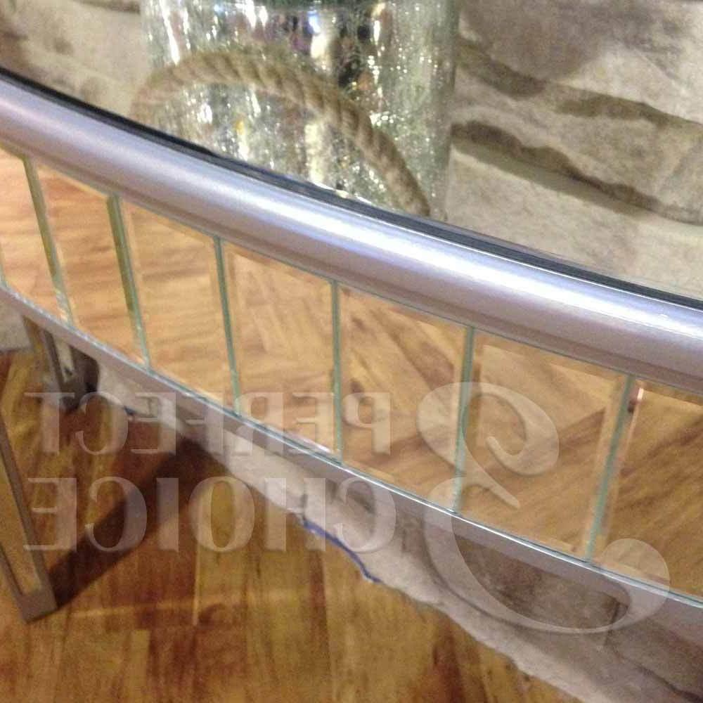 Hallway Entryway Mirrored Console Sofa Stand Half Oval