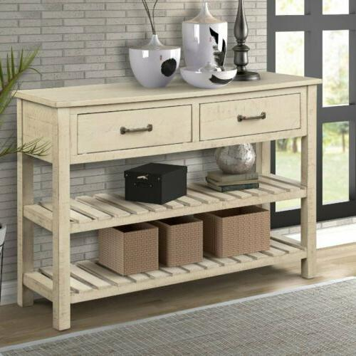 Hallway Wood Console Console With Drawers Entryway