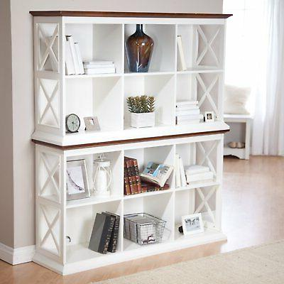 Belham Living Table 2 Shelf - White/Oak
