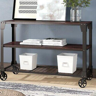 hobart truly modern console table solid manufactured