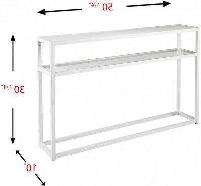 Holly and Baldrick Narrow Console Table White