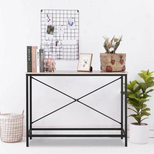 Home Console Table Wood Entryway Accent Hallway Living