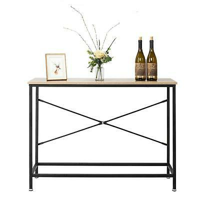 home console table wood entryway sofa accent