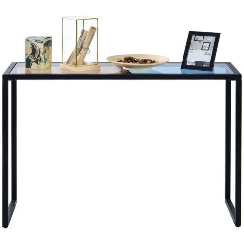 Home Office Metal Console Glass