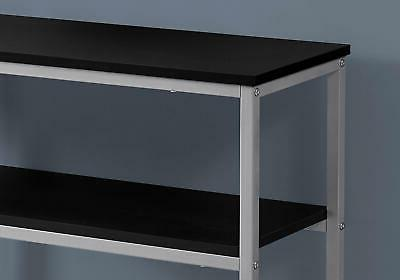 """Monarch Specialties I 35 42"""" Long Metal Console with Suspended Sh"""