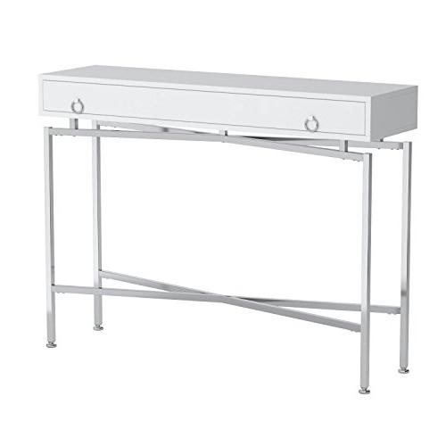 Monarch Specialties Glossy/Chrome Table,