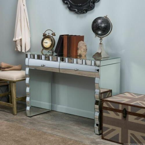 Isadora Mirrored Console Table