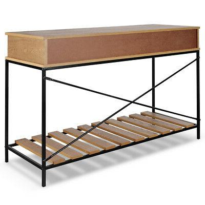 Industrial Console Table Rustic Furniture,