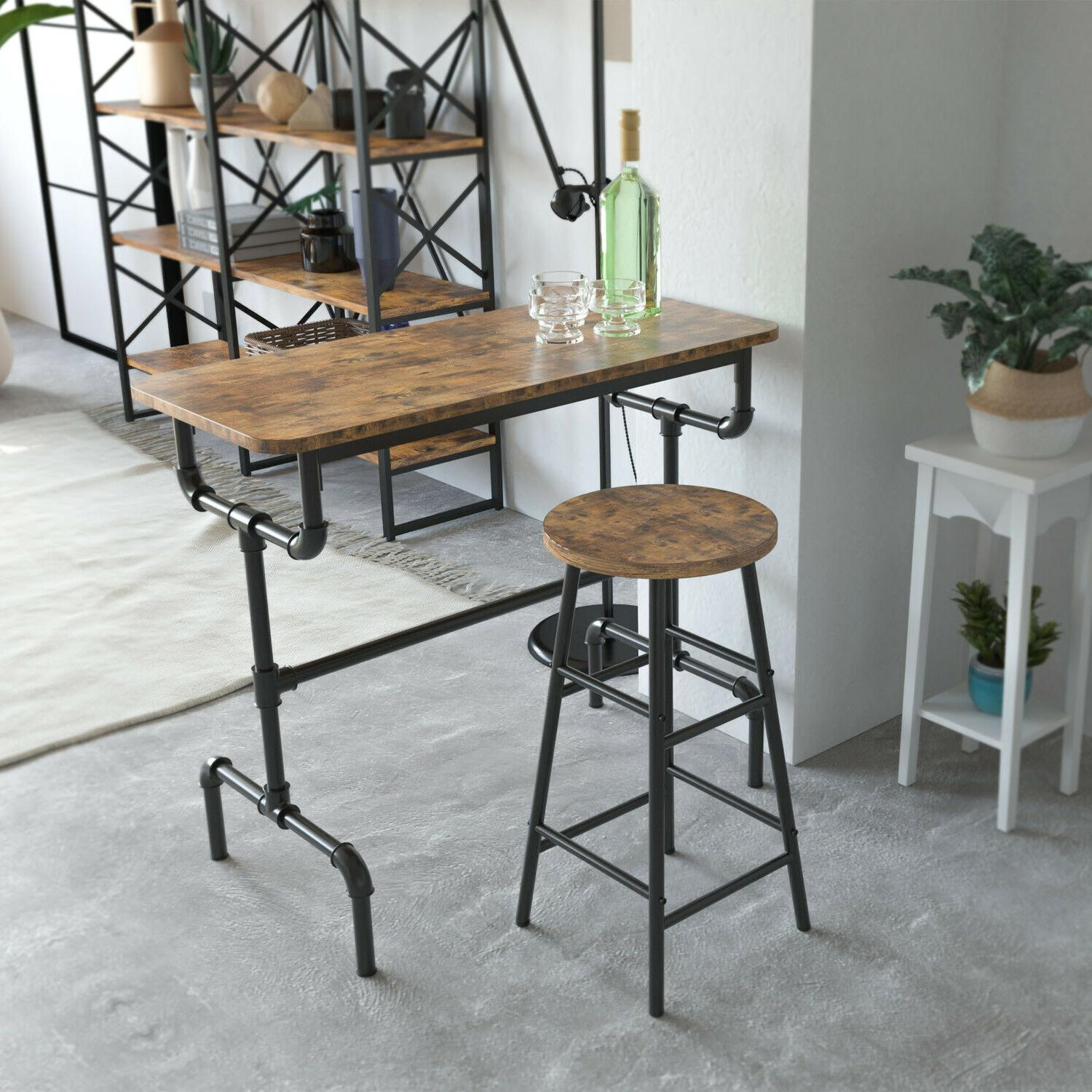 IRONCK Industrial Console Table, Entryway Table with Iron Pi