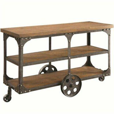 industrial console table rustic