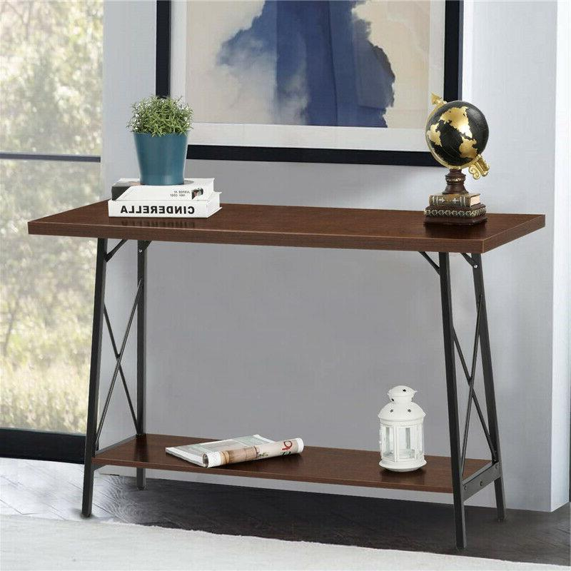 Iron Console Table Rustic Furniture Hall US