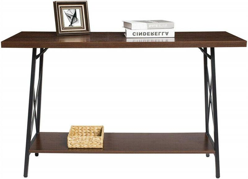 Iron Console Rustic Entryway Hall Sofa With US