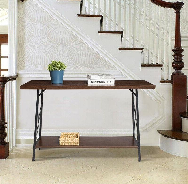 Iron Console Table Rustic Hall With US