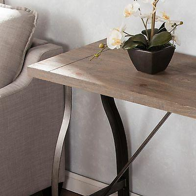 Southern Enterprises Console Table, Distressed Gray