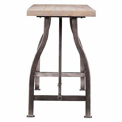 Southern Enterprises Jacinto Industrial Console Table, Gray