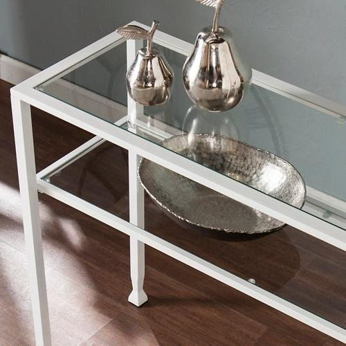 Jaymes Console Table White Finish
