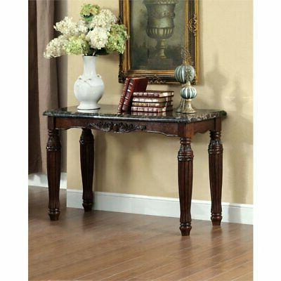 jinson console table in espresso