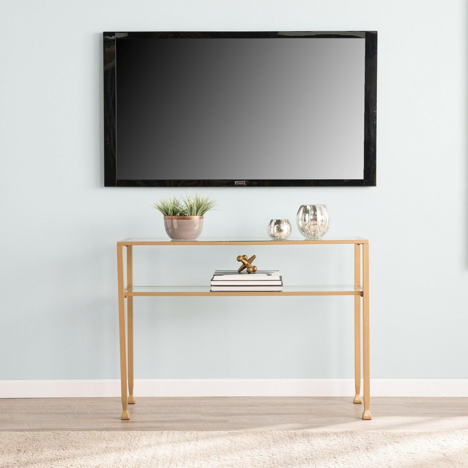 JST37575 GOLD GLASS CONSOLE