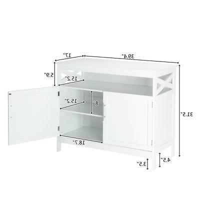 Kitchen Cabinet Sideboard Cupboard Pantry Console Table Display