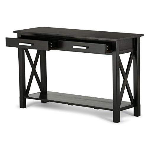 Simpli Console Table - x - 1 Shelve - Handle, Stain, Nitrocellulose