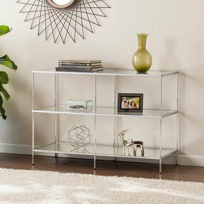 knox glam mirrored console table