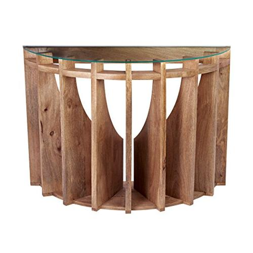 lazy susan wooden sundial console